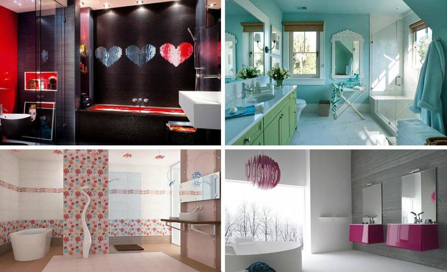 Ванные комнаты, предназначенные  для женщин
