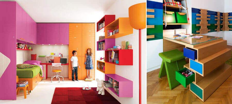 Письменные школьные столы: интерьерные решения для детской