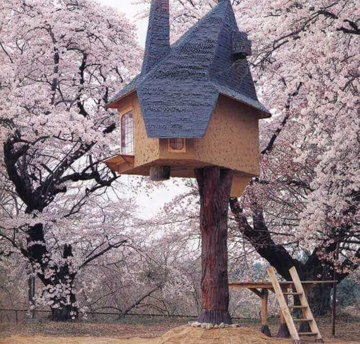 ДЕТСКИЕ ДОМИКИ: на деревьях