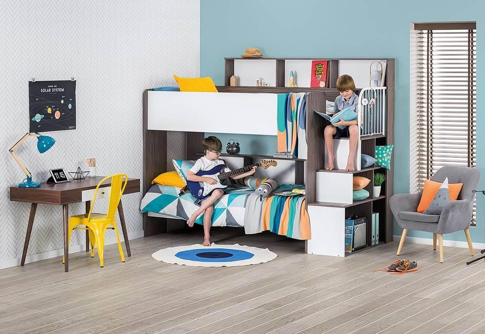 Детская  с двумя кроватями: сделать её подходящей для  всех возрастов