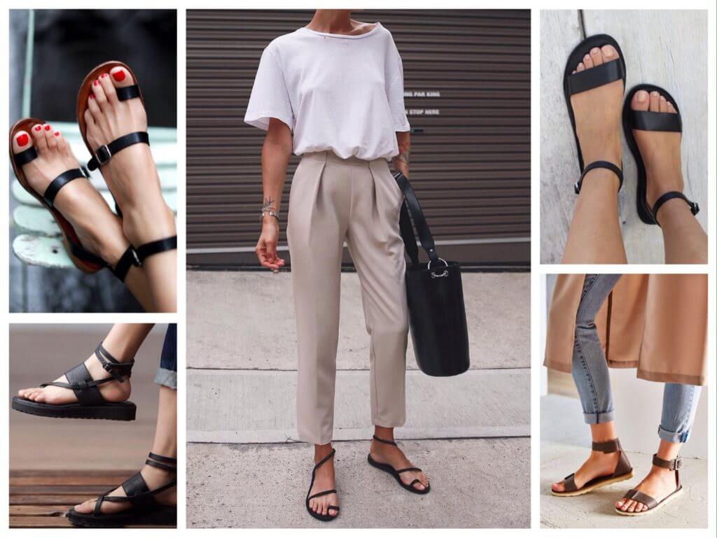 С чем носить босоножки на платформе