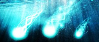 подводные светящиеся шары
